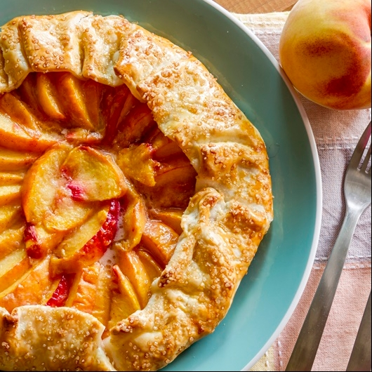 Photo of Peach Galette by Bindiya Sharma at BetterButter