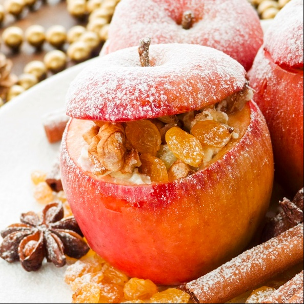 Photo of Stuffed Baked Apples by Sanjula Thangkhiew at BetterButter