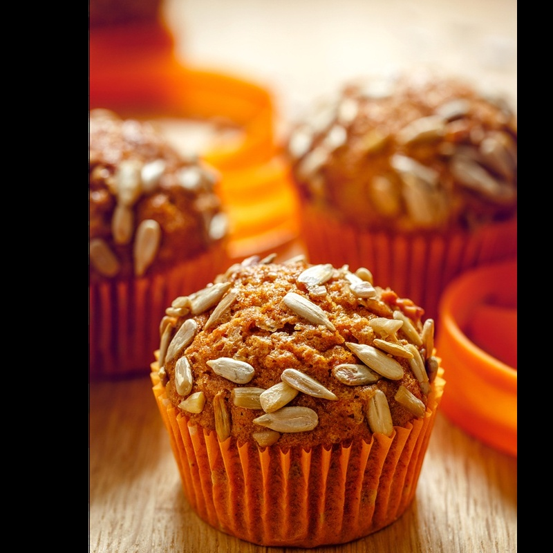 Photo of Carrot muffins with sunflower seeds by Sujata Limbu at BetterButter